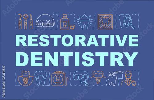 Restorative dentistry word concepts banner Fotobehang