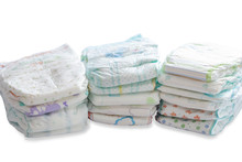 Stack Of Different Disposable Diapers