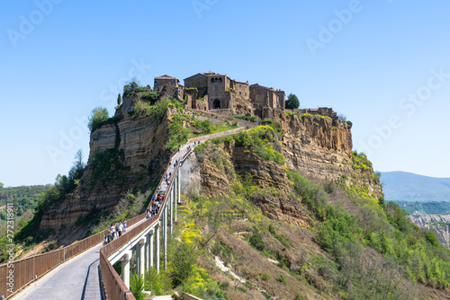Fototapety, obrazy: view of the medieval village of civita di bagnoregio, italy