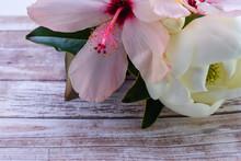 Magnolia And Hibiscus Flower O...