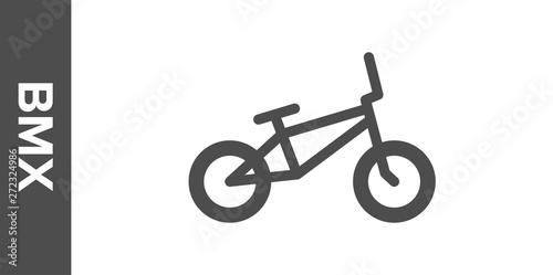 Stampa su Tela BMX bike silhouette. Vector flat icon.