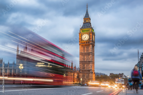 Poster Londres Big Ben in the evening, London, United Kingdom