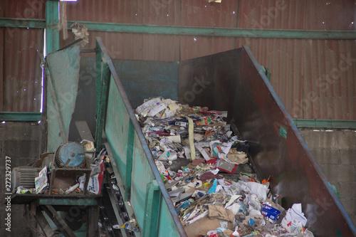 industria de reciclaje de papel Canvas Print
