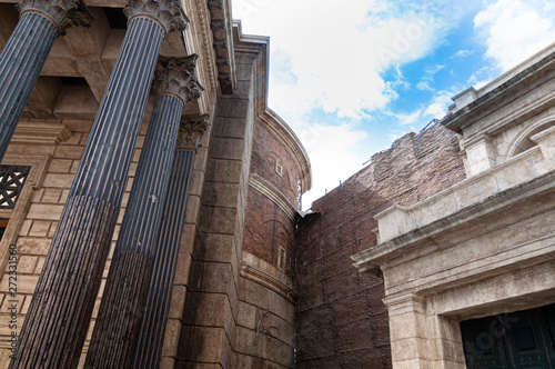 Cinecitta's rome filming set Canvas Print