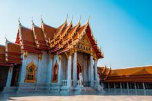 The Marble Temple, Wat Benchamabophit Dusit Wanaram In Bangkok, Thailand