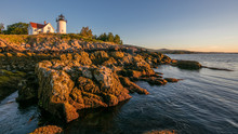 Rocky Shore And Light House