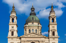 Szent Istvan Bazilika (Saint Stephen Basilica) Beautiful Classical Dome In The Center Of Budapest, With Twin Bell Towers, Completed In 1905