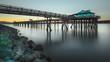 Pier at sunset.