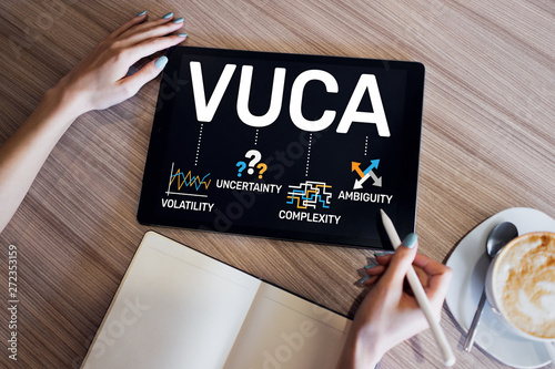 VUCA world concept on screen Canvas Print