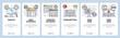 Mobile app onboarding screens. Social media, data interface, computer display. Menu vector banner template for website and mobile development. Web site design flat illustration