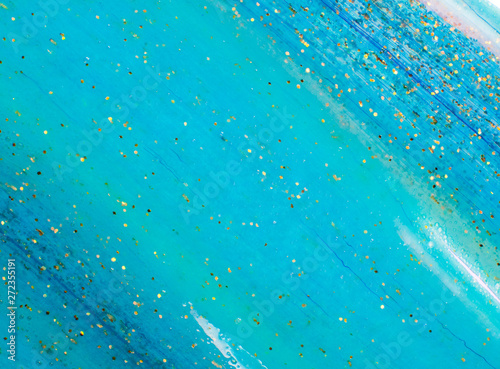 canvas print motiv - lithiumphoto : Background transparent slime with golden glitter