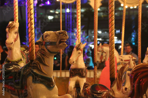 Carousel or Merry Go Round Horses Canvas-taulu