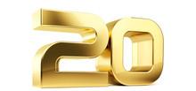 20 Golden Bold Letters Symbol ...