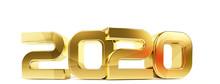 2020 Bold Letters Symbol 3d-il...