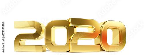 Fototapeta 2020 bold letters symbol 3d-illustration obraz