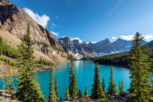 Canvas Prints Textures Beautiful sunset in Banff National Park, Moraine lake, Canada.
