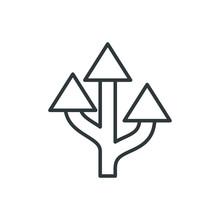 Route Arrow Vector Icon