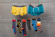 Two Men's Shorts And Many Colo...