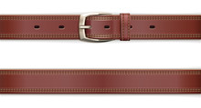 Leather Belt With Metallic Cla...