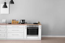Interior Of Kitchen With Moder...