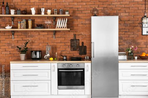 Valokuva  Interior of modern stylish kitchen