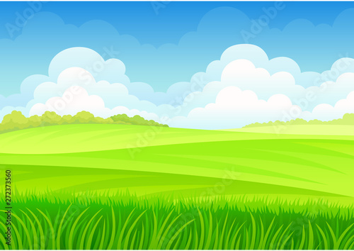 Spoed Fotobehang Lime groen Tall grass on the background of meadows. Vector illustration on white background.