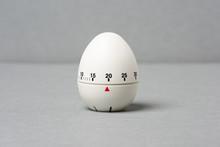 Egg Timer  On Grey Background.