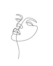 Abstract Face. Continuous Line...