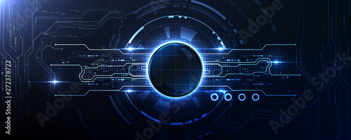 Photo Technology abstract illumination port connection background template copy space