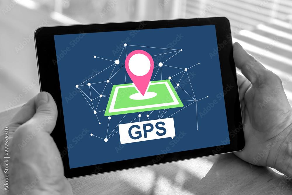 Fototapety, obrazy: Gps concept on a tablet