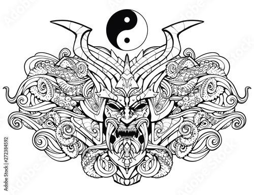 Coloring page for adults, s...