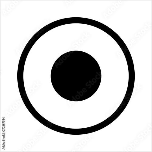 Record Button Icon, Audio Video Recording Start Button - Buy this