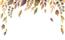 Watercolor Vector Autumn Card ...