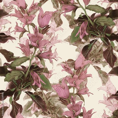 wzor-kwiaty-dzwonki-rozowe