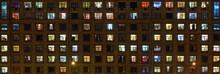 Panorama Of The Night Windows ...