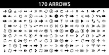 Arrows Set Of 170 Black Icons....