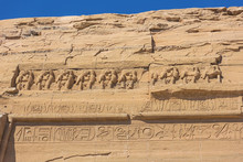 Baboons Above The Entrance Of The Great Temple Of Abu Simbel