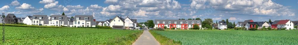 Fototapety, obrazy: Ein Neubaugebiet im nördlichen Teil von Frankfurt am Main