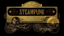 Steampunk Frame With Intricate Old Mechanism