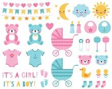 Baby Boy And Girl Design Eleme...