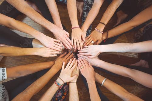 Fotografía  Hands together teamwork