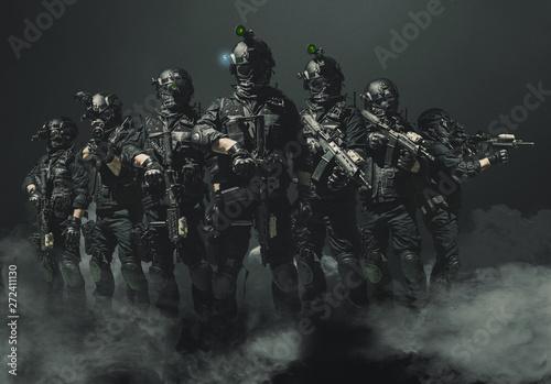 special forces soldier police, swat team member Fototapet