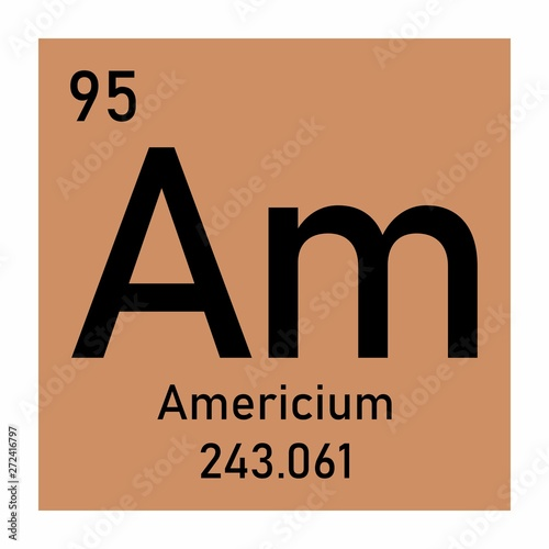 Americium chemical symbol Canvas Print