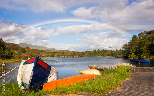 Rainbow at Bantry Bay in Ireland Wallpaper Mural