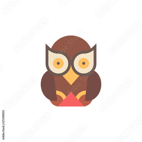 Photo Stands Owl color icon. Element of boho color icon. Premium quality graphic design icon. Signs and symbols collection icon for websites, web design, mobile app