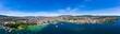 Leinwandbild Motiv Panoramic aerial view of Zurich  city in Switzerland