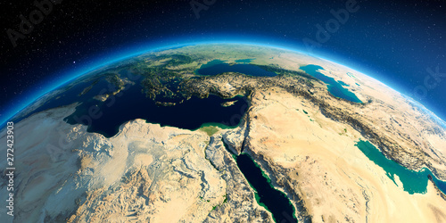 Detailed Earth. Africa and Middle East Fototapet