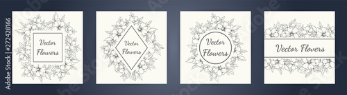 Foto  wedding invitation with summer flowers