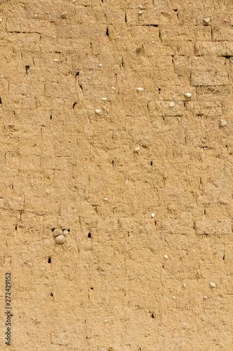 Fotografie, Obraz  Pared con textura de adobe