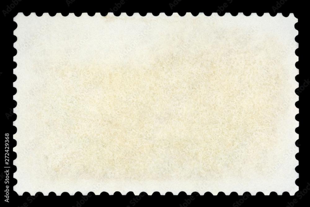 Fototapeta Blank postage stamp - Isolated on Black background